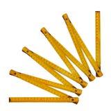 Medidor de dobramento amarelo Imagens de Stock
