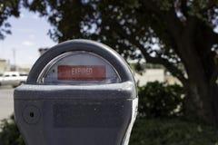 Medidor de estacionamento expirado imagem de stock
