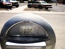 Medidor de estacionamento no lote Foto de Stock