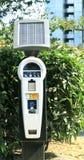 Medidor de estacionamento solar Imagem de Stock Royalty Free