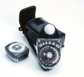 Medidor de exposição fotografia de stock