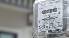 Medidor de fonte da energia elétrica filme