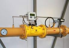 Medidor de gás Fotografia de Stock Royalty Free