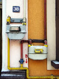 Medidor de gás Imagem de Stock Royalty Free