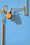 Medidor de gás alaranjado foto de stock