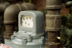 Medidor de gás natural Foto de Stock Royalty Free