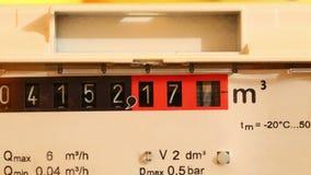 Medidor de gás Timerlapse video estoque