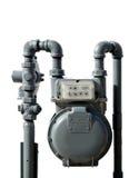 Medidor de gás natural Imagens de Stock