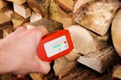 Medidor de madeira da umidade fotografia de stock
