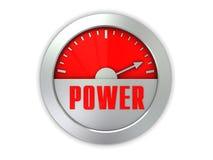 Medidor de potência ilustração do vetor