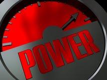 Medidor de potência ilustração royalty free