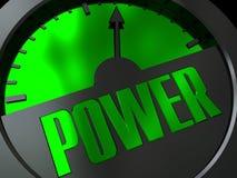 Medidor de potência ilustração stock