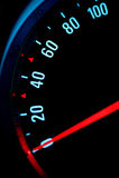 Medidor de velocidade do carro fotografia de stock