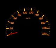 Medidor de velocidade do carro Fotografia de Stock Royalty Free