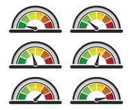 Medidor do desempenho ilustração stock
