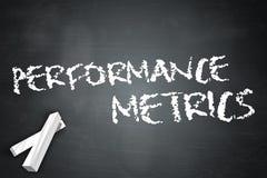 Medidor do desempenho do quadro-negro ilustração stock