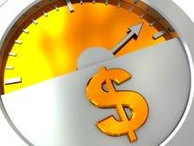 Medidor do dinheiro ilustração do vetor