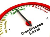 Medidor do nível de confiança Fotos de Stock Royalty Free