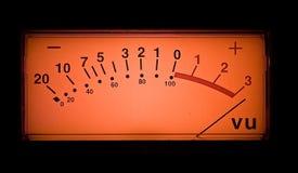 Medidor do Vu Imagem de Stock Royalty Free