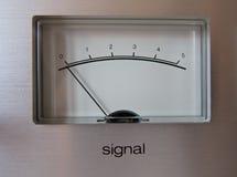 Medidor do VU do sinal análogo fotos de stock royalty free