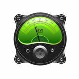 Medidor eletrônico realístico do sinal do VU do analógico Fotos de Stock