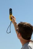 Medidor Handheld de Windspeed imagens de stock