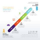 Medidor Infographic do progresso Imagens de Stock