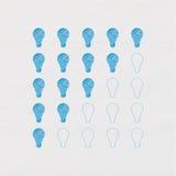 Medidor inteligente. Ampolas da tração estilizado da mão ilustração stock