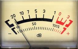 Medidor sadio do decibel Fotos de Stock Royalty Free