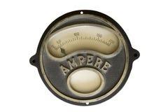 Medidor velho do ampère Fotografia de Stock Royalty Free