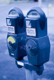 Medidores de estacionamento Imagens de Stock