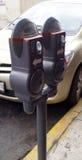 Medidores de estacionamento fotografia de stock