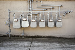 Medidores de gás Imagens de Stock