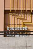 Medidores de gás e trilhos Foto de Stock Royalty Free