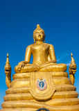 12 medidores de imagem grande alta da Buda, feita de 22 toneladas de bronze em Phu Fotos de Stock Royalty Free