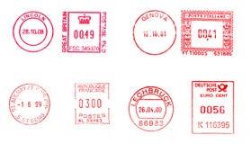 Medidores de porte postal ilustração stock