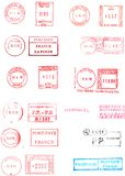 Medidores de porte postal Imagem de Stock Royalty Free