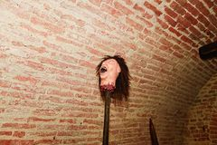 Medieaval Torture. Head on a spike. Instrument of torture. Royalty Free Stock Photos
