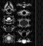 mediebal sköldar för heraldik Arkivbild