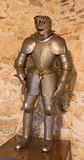 The medielval armour on the Spissky castle. SPISSKY CASTLE, SLOVAKIA - JULY 19, 2014: The medielval armour stock photography
