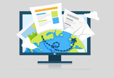 Medien-Datei-Illustration Stockfoto