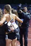 Medien, die Melissa Bishop fotografieren Lizenzfreies Stockbild