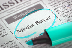 Medien-Käufer Job Vacancy 3d stockfotos