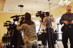 Medien-Kamerateam Lizenzfreies Stockfoto