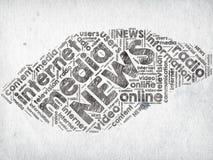 Medien-Nachrichten lizenzfreie abbildung