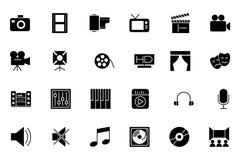 Medien und Anzeigen-Vektor-Ikonen 1 Stockbilder