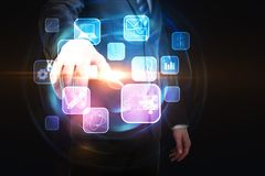Medien und infograph Konzept Lizenzfreies Stockfoto