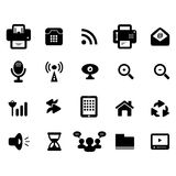 Medien und Kommunikations-Ikone Lizenzfreie Stockbilder