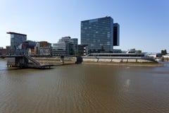 MedienHafen Dusseldorf, de nieuwe gebouwenlente van 2011 Stock Afbeelding