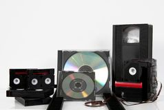 Medienspeichervideokassetten-CD dvd Millimeter Stockbild